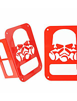 Taillight Cover Box Red Skull