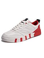 Красный / Серо-коричневый / Черный и белый-Мужской-Для прогулок / На каждый день / Для занятий спортом-Полиуретан-На плоской подошве-С