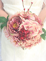 Wedding Flowers Round Roses Bouquets Wedding Polyester 7.09