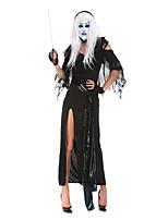 Costumes Zombie / Vampire / Esprit Halloween / Noël / Carnaval / Nouvel an Noir Vintage Térylène Robe / Gants / Ceinture / Coiffure
