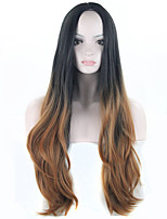 2016 New Fashion Ombre Wig Long Wavy Ombre Brown Wig Two Tone Ombre Brown Hair Wigs for Women