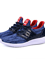 Men's Sneakers Summer Comfort / Round Toe Cotton Casual Flat Heel Lace-up Black / Blue / Gray Sneaker