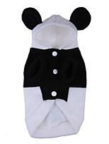 Cat / Dog Costume / Hoodie Black / White Winter / Spring/Fall Animal Cosplay, Dog Clothes / Dog Clothing