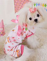 Dog Dress Green / Pink / Yellow Winter / Spring/Fall Floral / Botanical Casual/Daily Dog Clothes / Dog Clothing-Other