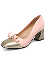 Women's the four seasons fashion Heels / Basic Pump / Square Toe Patent Leather Office & Career / Dress