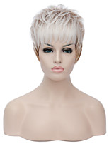 European Short Sythetic Party White Ombre Light Brown Wig For Women