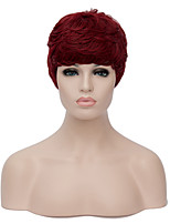European Charming Short Sythetic Black and Wine Red Party Wig For Women