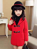 Girl's Casual/Daily Solid Down & Cotton Padded / Suit & Blazer,Cotton / Others Spring / Fall Pink / Red