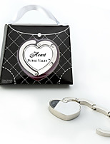 Beter Gifts® Bridesmaids / Bachelorette / Bride Chrome Heart Wedding Purse Hook, Hangbag Holder Favor
