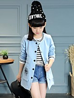Girl's Casual/Daily Solid Suit & Blazer,Cotton / Rayon Winter / Spring / Fall Blue / Red