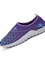 Dames / Heren Sneakers Lente / Herfst Stijlen / Ronde neus Weefsel Informeel Platte hak Geruit Zwart / Blauw / Paars Wandelen