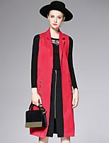 AFOLD® Women's Peter Pan Collar Sleeveless Vest & Waistcoat Black / Red / Yellow-6060