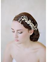 Dame Legering / Imitert Perle Headpiece-Bryllup / Spesiell Leilighet / AvslappetPannebånd / Hårkammer / Blomster / Pannekjede /