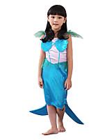 Costumes Mermaid Tail Halloween / Christmas / Carnival White / Blue Vintage Dress