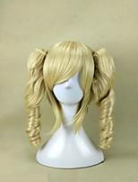 5 couleurs cosplay perruques capless synthétique 16 pouces longue perruque de cheveux bouclés pour femme costume et perruque de parti