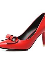 Черный / Красный / Белый-Женский-Для офиса / На каждый день-Полиуретан-На шпильке-На каблуках / С острым носком-Обувь на каблуках