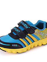 Girl's Athletic Shoes Spring / Fall Comfort PU Casual Flat Heel Magic Tape Blue / Yellow / Green / Red Sneaker