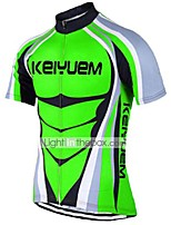 KEIYUEM® Cycling Jersey Unisex Short SleeveBreathable / Quick Dry / Ultraviolet Resistant / Front Zipper / Antistatic / Back Pocket /