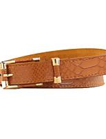 Women PU Skinny Belt,Fashionable Jewelry Alloy All Seasons