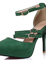 Women's Heels Spring / Summer / Fall / Winter Heels Fur Party & Evening / Dress Stiletto Heel Glitter Black / Green