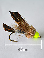 1 pcs Hard Bait Brown 5 g/1/6 oz. Ounce,42 mm/1-9/16
