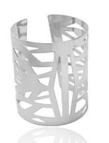 Pulseras y Brazaletes Pulseras de puño Legierung Forma de Tubo Moda Joyas Regalo Dorado / Plateado,1 pieza
