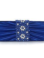 L.WEST Women's Handmade Flower Fold Pearl Evening Bag