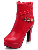 Women's Boots Fashion Boots / Round Toe Party & Evening / Dress / Casual Platform Buckle / Zipper