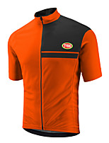 Sports Cycling Jersey Men's Short Sleeve Bike Breathable / Front Zipper / Wearable / Ultra Light Fabric Tops Terylene / Coolmax / LYCRA®
