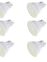 3 GU10 LED-spotlampen MR16 48 SMD 2835 250 lm Warm wit / Koel wit Decoratief AC 220-240 V 6 stuks