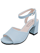 Women's Sandals Summer Styles / Open Toe PU Dress / Casual Low Heel Others Black / Blue / Pink / White