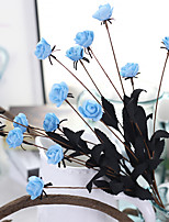 1 Branch Styrofoam Roses Tabletop Flower Artificial Flowers