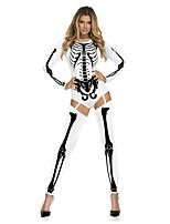 Costumes Déguisements de squelette / Zombie / Vampire Halloween / Noël / Carnaval Rouge / Noir Vintage TérylèneCollant/Combinaison /
