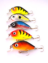 5 pcs Hard Bait Black / Orange / Yellow / Dark Gray / Red 4 g