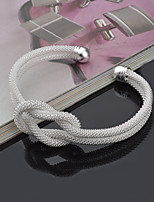 Women's S925 Sterling Silver Cuff Bangle for Wedding Party Casual Bracelet Jewelry Gift
