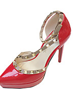 Women's Heels Summer Heels Patent Leather Casual Stiletto Heel Beading Pink / Red / White / Gray Others