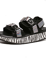 Women's Sandals Summer Sandals / Open Toe PU Casual Platform Magic Tape Silver Others