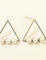 Earring Triangle Shape Stud Earrings Jewelry Women Fashion Daily / Casual Alloy 1pc Gold / Silver