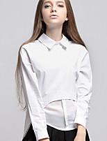 ARNE® Women's Shirt Collar Long Sleeve Shirt & Blouse White-A007