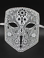 Medieval knight laser cutting hollow metal shield mask6002A2