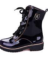 Women's Boots Spring / Fall / Winter Fashion Boots Leatherette Outdoor / Casual Chunky Heel Black / Blue / Brown Walking