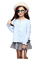 Girl's Casual/Daily Solid Sweater & Cardigan,Rayon / Others Spring / Fall Blue / Pink / Red