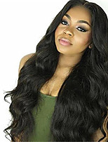 16-28 Inch Unprocessed Human Hair Full Lace Wig #1b Color Body Wave 130% Density with Baby Hair for Black Women