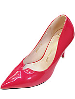 Women's Heels Summer Heels Patent Leather Casual Stiletto Heel Others Black / Silver / Gray / Fuchsia Others