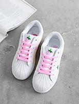 Da donna-Sneakers-Casual-Comoda / Punta arrotondata-Piatto-Di corda-Rosa / Rosso