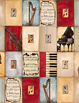 JAMMORY Wallpaper For Home Wall Covering Canvas Adhesive required Mural Musical Instruments3XL(14'7''*9'2'')