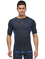 Running T-shirt / Sweatshirt Men's Short Sleeve Breathable / Quick Dry / Reflective Strips / Sweat-wicking /  LYCRA®