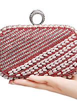 L.WEST Women's The Elegant Luxury Handmade Pearl Diamonds Evening Bag