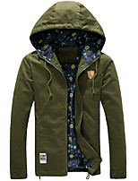 Casual Hooded Jacket Men Jacket Coat Male Adolescent Students Slim