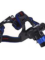 Fietsverlichting Hoofdlampen Makkelijk Te Dragen 400 Lumens Batterij Cree XR-E Q5 Zwart Fietsen